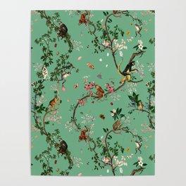 Monkey World Green Poster