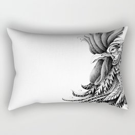 Ornately Decorated Rooster Rectangular Pillow