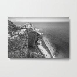 Cliffs along Cape Point, South Africa Metal Print