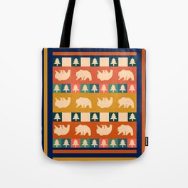 Multicolored bear pattern Tote Bag