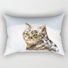 Snowy Cat Rectangular Pillow