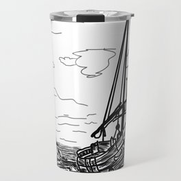 boats on the sea . https://society6.com/vickonskey/collection Travel Mug