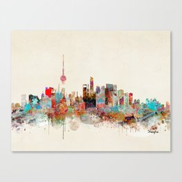shanghai city skyline Canvas Print