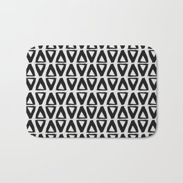 Black and White Abstract II Bath Mat