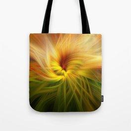 Sunflowers Twirled Tote Bag