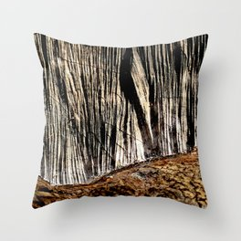 tree bark and wood Throw Pillow