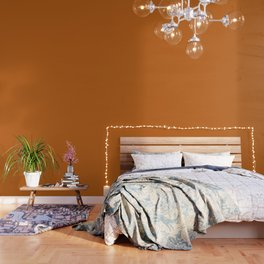 "Orange ""Autumn Maple"" Pantone color Wallpaper"