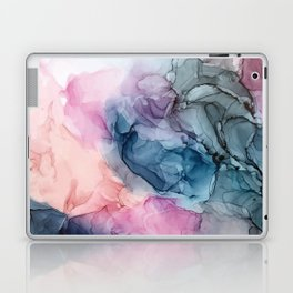 Heavenly Pastels: Original Abstract Ink Painting Laptop & iPad Skin