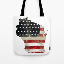 WISCONSIN FLAG Tote Bag
