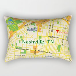 Map of Nashville, TN Rectangular Pillow