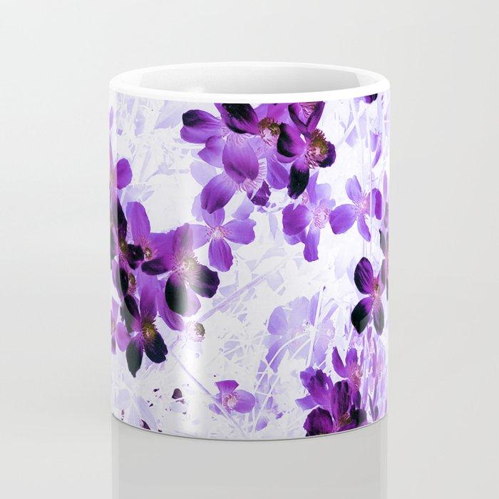 Invert Clematis Design Coffee Mug