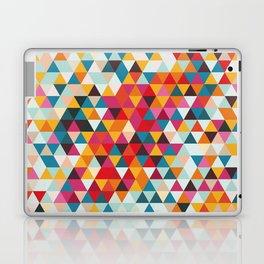 Vintage Summer Color Palette - Hipster Geometric Triangle Pattern Laptop & iPad Skin