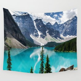 Lake Moraine Banff Wall Tapestry