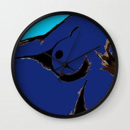 Recline in Blue Wall Clock