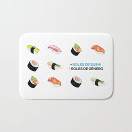+ Roles de Sushi - Roles de Género Bath Mat