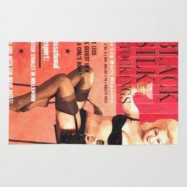 Black Silk - Vintage Magazine Covers Series Rug