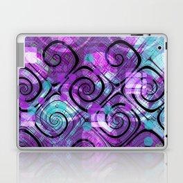 Purple Plaid Twisted Mess Laptop & iPad Skin