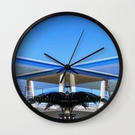 Metallic Palm Wall Clock
