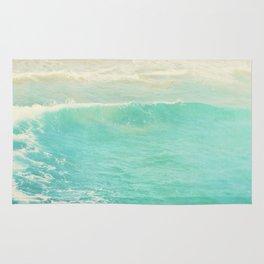 beach ocean wave. Surge. Hermosa Beach photograph Rug