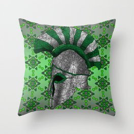 Spartan Helmet Throw Pillow