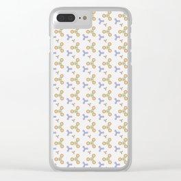 Fidget Spinner Seamless Pattern Clear iPhone Case