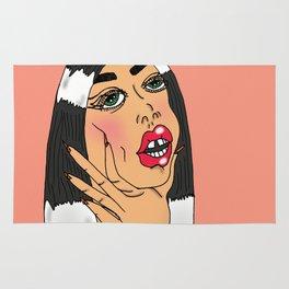Choking Babe (Peach) Rug