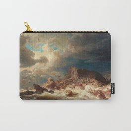 Marcus Larson - Stormy Sea With Ship Wreck Carry-All Pouch