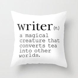 Writer Definition Converts Tea Throw Pillow