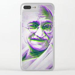 Mahatma Gandhi Clear iPhone Case