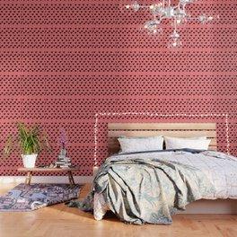 Retro Hearts Pattern Wallpaper