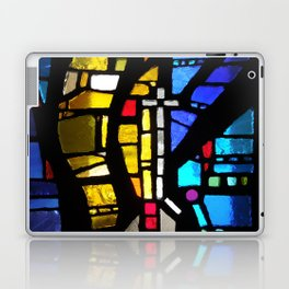 Stained Glass with Cross Laptop & iPad Skin