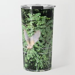 Mourning Dove on Takeoff Travel Mug
