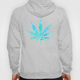 Blue Mint Cannabis Swirl Hoody