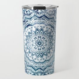 BLUE JEWEL MANDALA Travel Mug