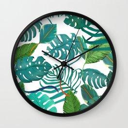 wild green Wall Clock