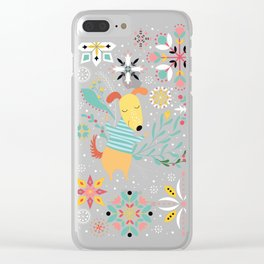 Happy Dog Year Clear iPhone Case