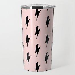 Lightning Bolts Blush Travel Mug