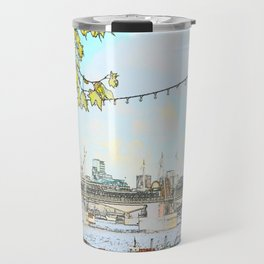London River Scene Travel Mug