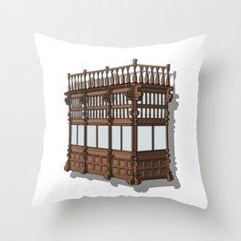 Colonial Balcony - Balcon colonial Throw Pillow
