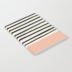 Peach x Stripes Notebook