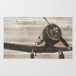 Old airplane 2 Rug