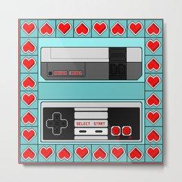 Video Game Lover : NES Metal Print
