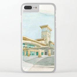 Watercolor Warwick World Headquarters Clear iPhone Case
