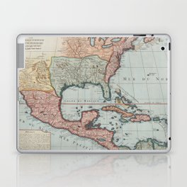 Vintage Map of The Gulf of Mexico (1732) Laptop & iPad Skin