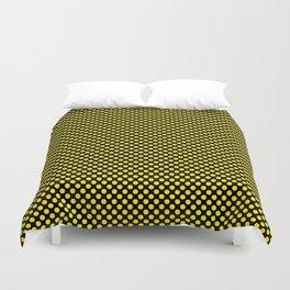 Black and Blazing Yellow Polka Dots Duvet Cover