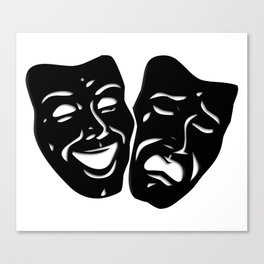 Theater Masks of Comedy and Tragedy Canvas Print