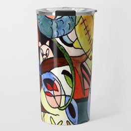 Childhood Series: Playtime with Animals Watercolor Painting Travel Mug