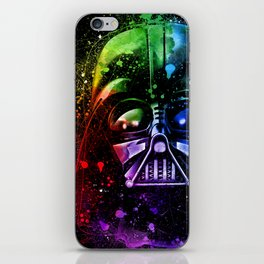 Darth Vader Helmet StarWars Art - Digital Splash Painting iPhone Skin