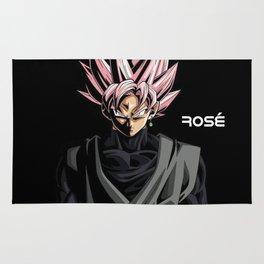 Rosé Goku Black Dark Theme Rug