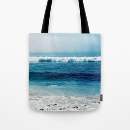 aqua foamy sea Tote Bag